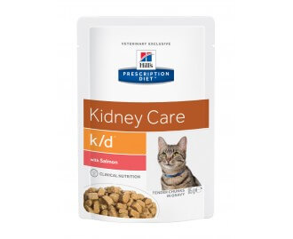 Hill's Prescription Diet K/D Feline Kidney Care cibo umido per gatti con salmone