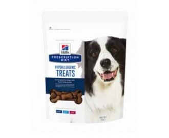 Hill's Prescription Diet Canine Hypoallergenic Treats Snack per cani