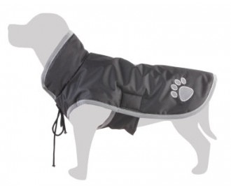 Impermeable negro para perros