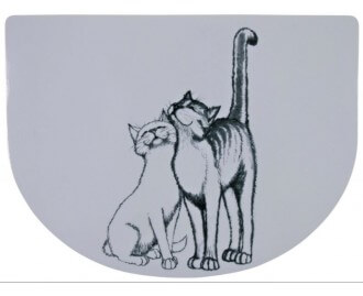 Salvamanteles para Gatos TRIXIE Pussy Cat cm 40x30. blanco