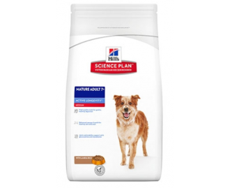 Hill's Science Plan Mature Adult 7+ Active Longevity crocchette per cani con agnello e riso
