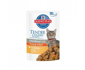 Hill's SP comida humeda gato · Adult Sterilised Bolsita con Pollo 85grs