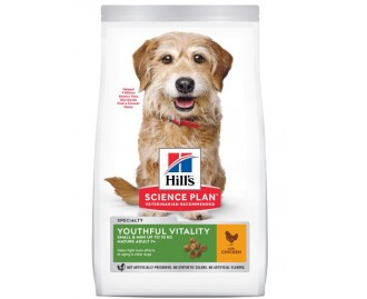 Hill's SP Canine Adult 7+ Youthful Vitality Mini crocchette per cani con pollo e riso
