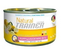 Natural Trainer Puppy & Junior Mini cibo umido per cuccioli di taglia piccola. Pack 24 unità da 150 g